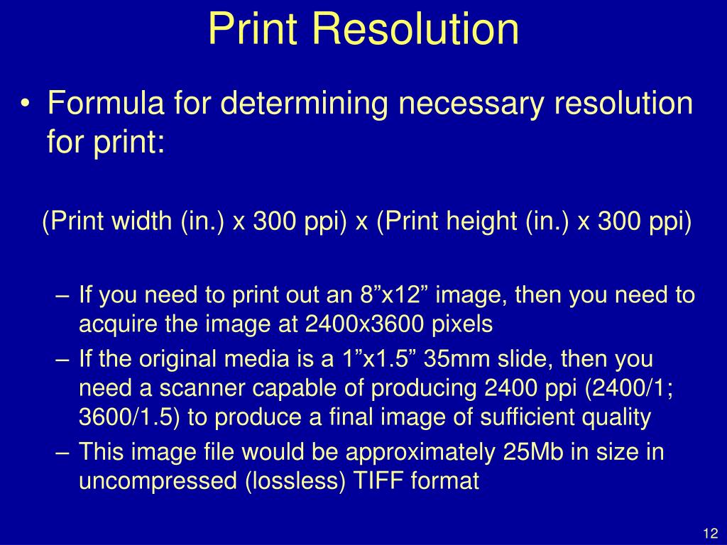 Print Resolution