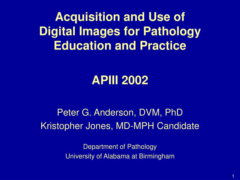 Acquisition and Use of Digital Images for Pathology Education and Practice