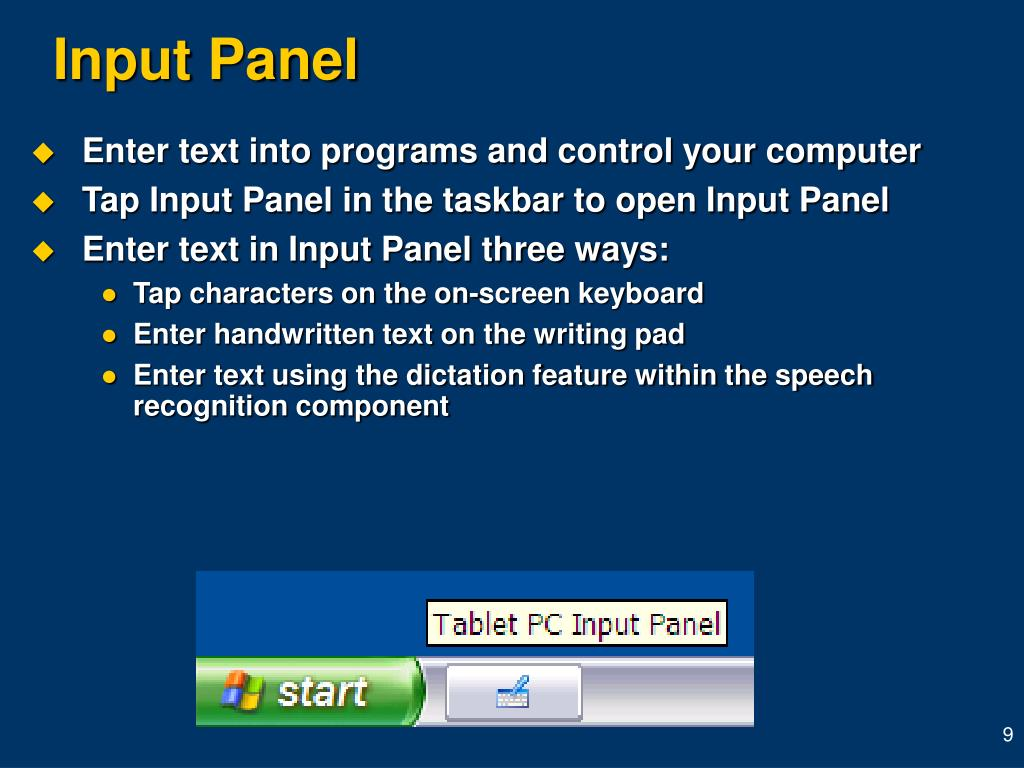 Enter text into programs and control your computer