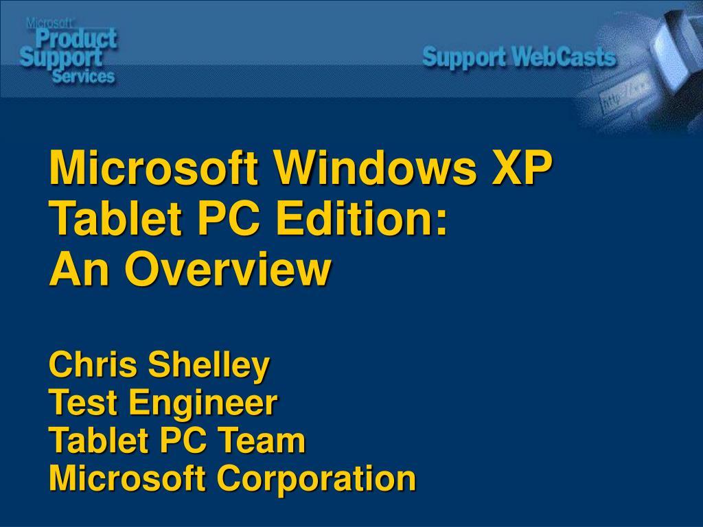 Microsoft Windows XP Tablet PC Edition: