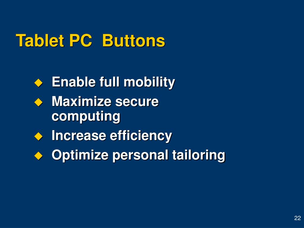 Tablet PC  Buttons