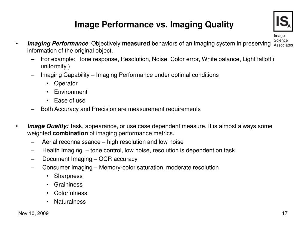 Imaging Performance