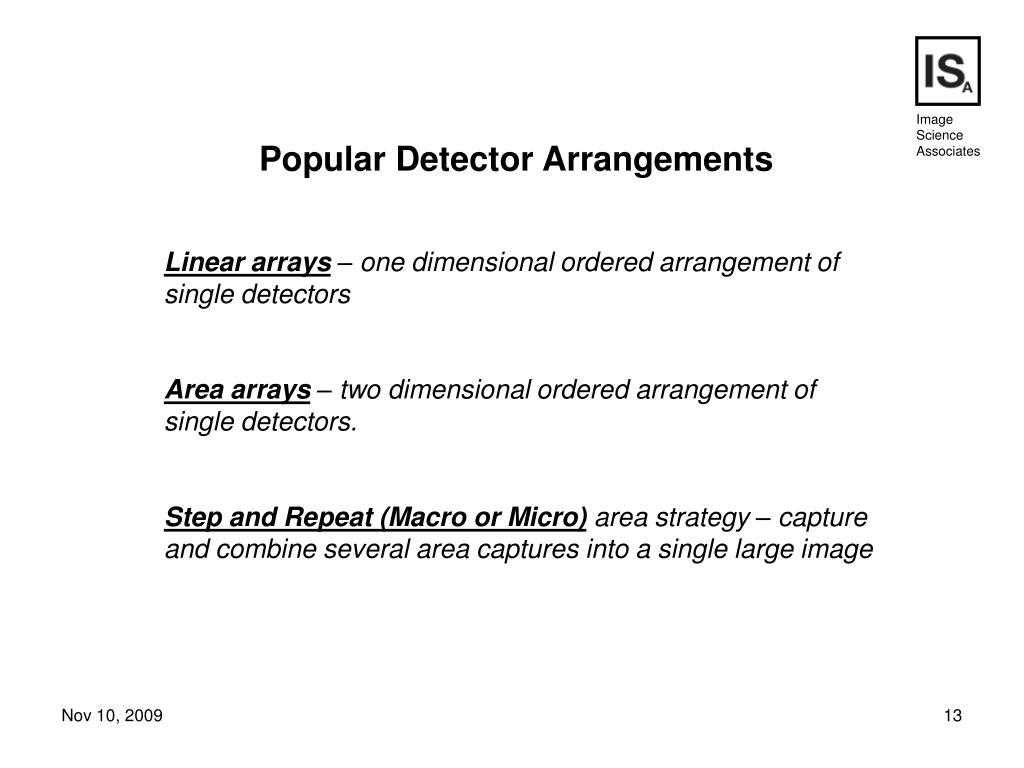 Popular Detector Arrangements