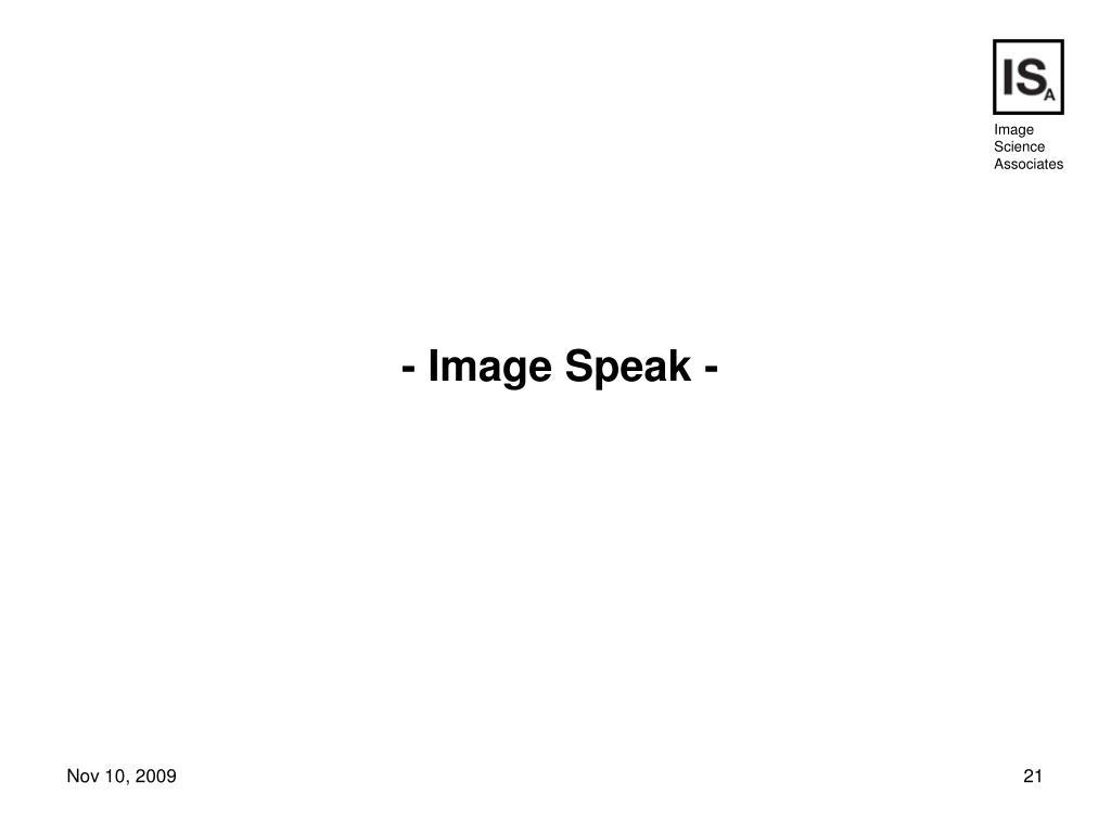 - Image Speak -