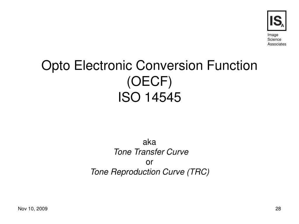 Opto Electronic Conversion Function (OECF)