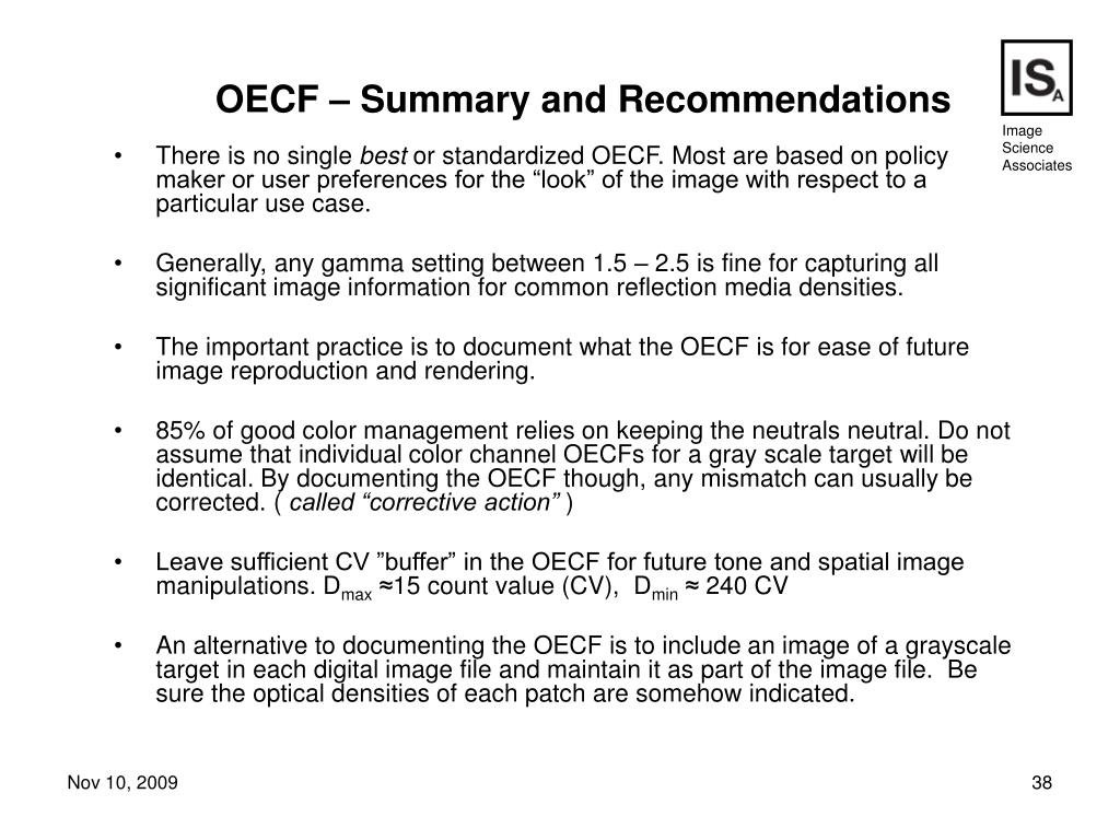 OECF – Summary and Recommendations