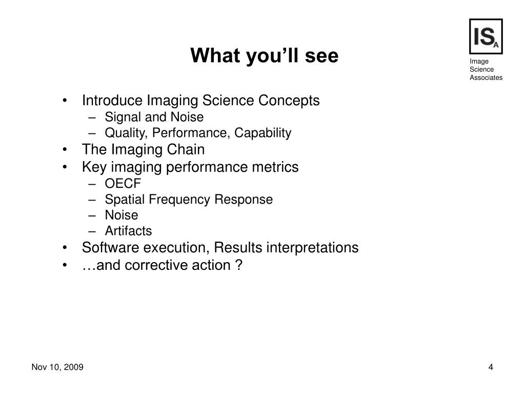Introduce Imaging Science Concepts