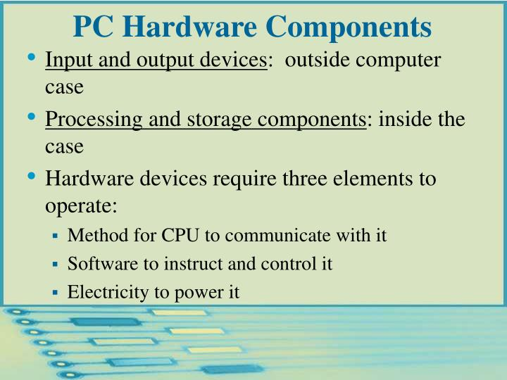 Pc hardware components l.jpg