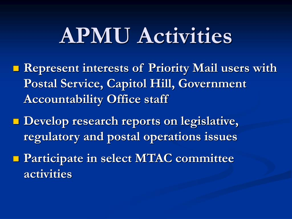 APMU Activities