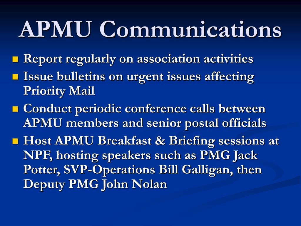 APMU Communications