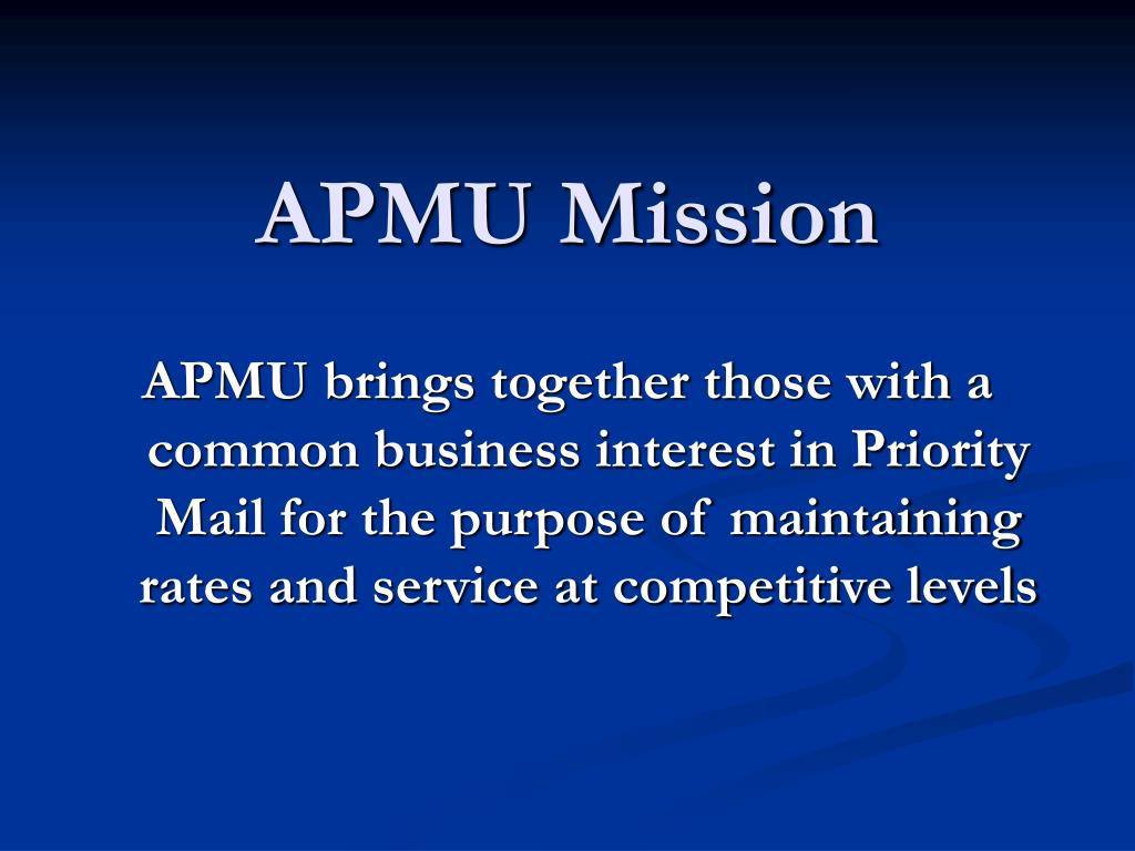 APMU Mission