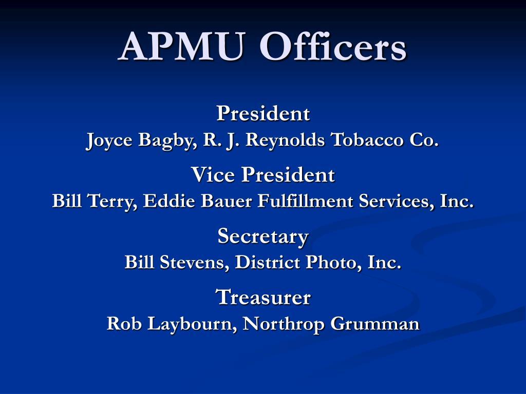 APMU Officers