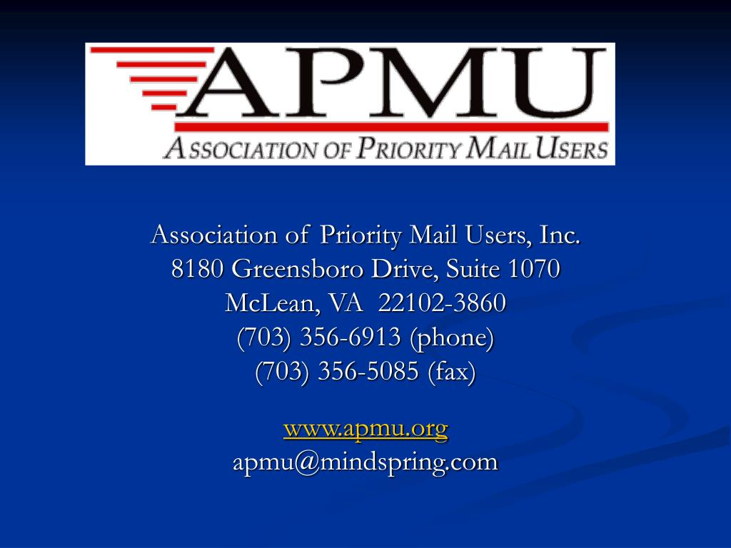 Association of Priority Mail Users, Inc.