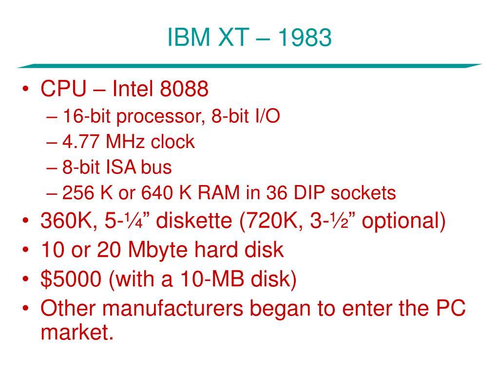 IBM XT – 1983