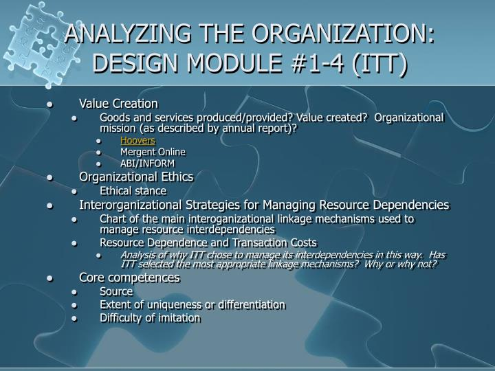 Analyzing the organization design module 1 4 itt
