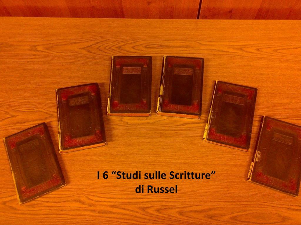 """I 6 """"Studi sulle Scritture"""" di Russel"""