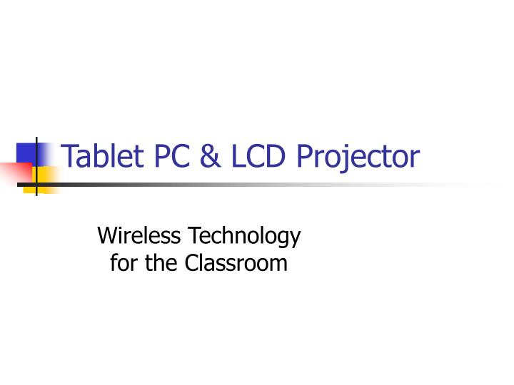 Tablet pc lcd projector
