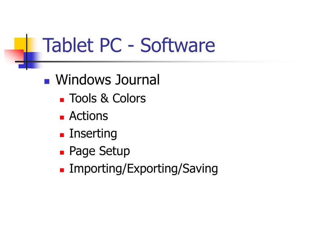Tablet PC - Software