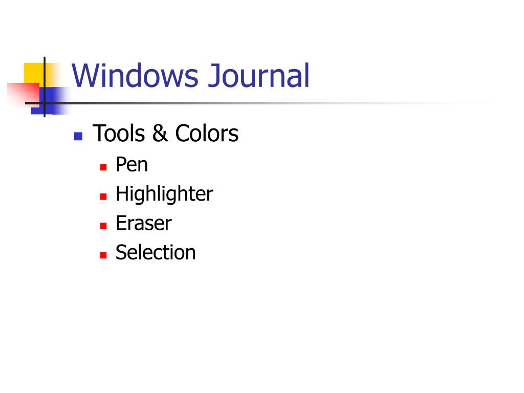 Windows Journal