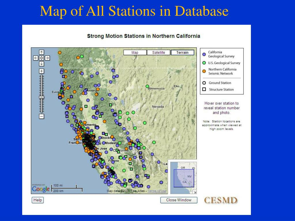 Map of All Stations in Database