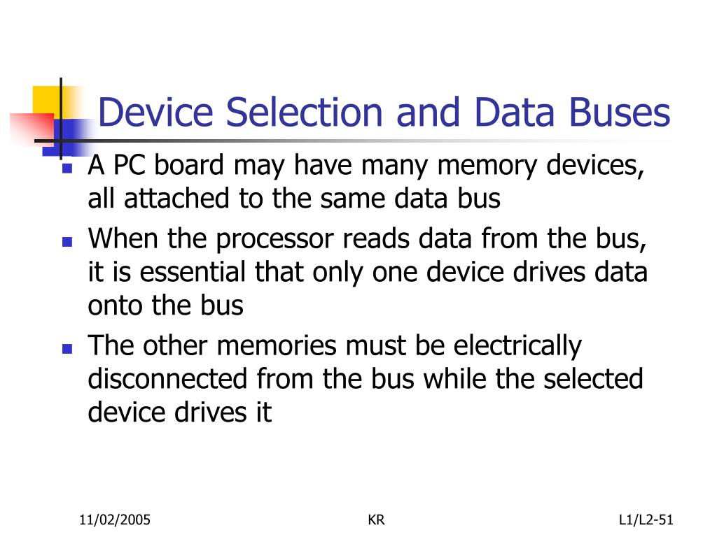Device Selection and Data Buses