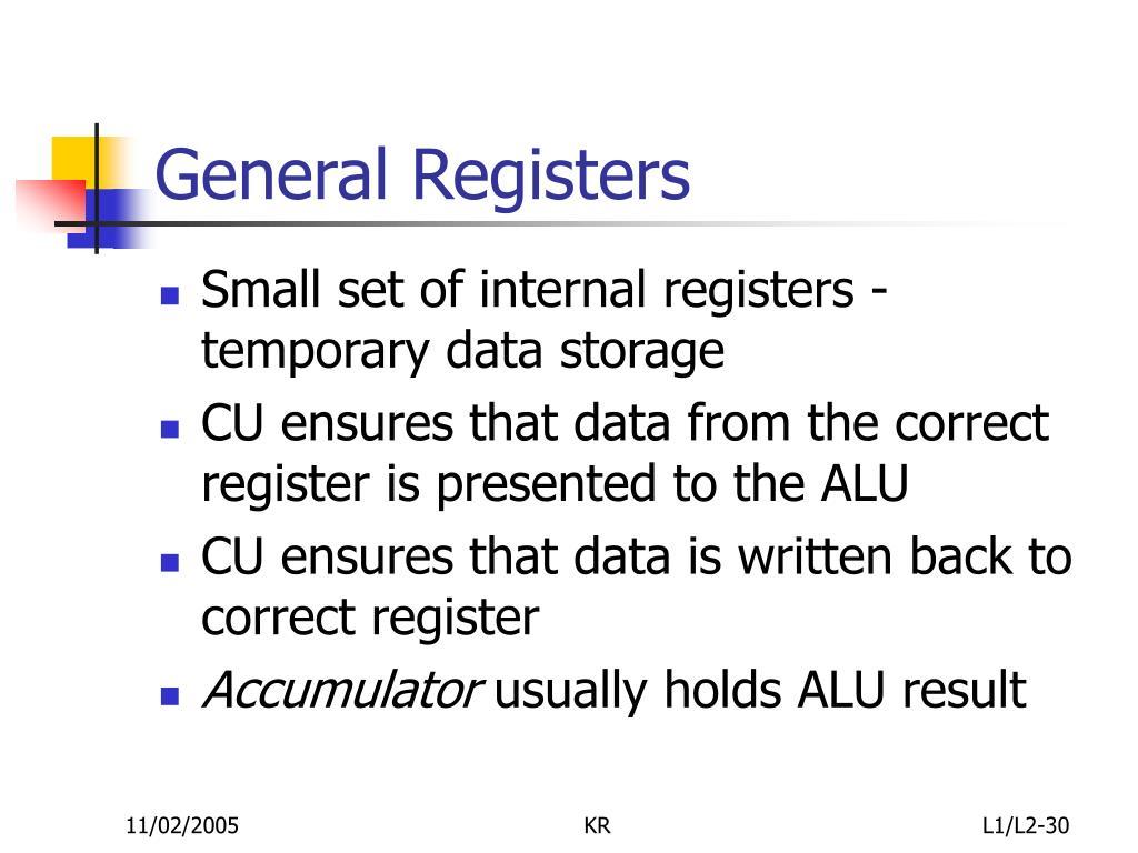 General Registers