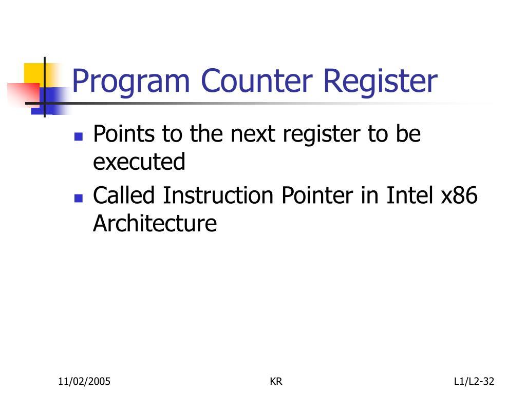 Program Counter Register