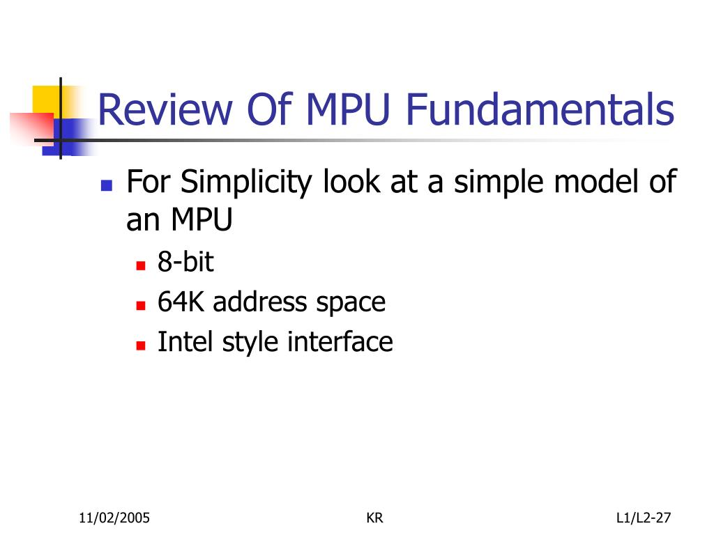 Review Of MPU Fundamentals