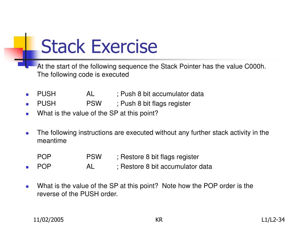 Stack Exercise