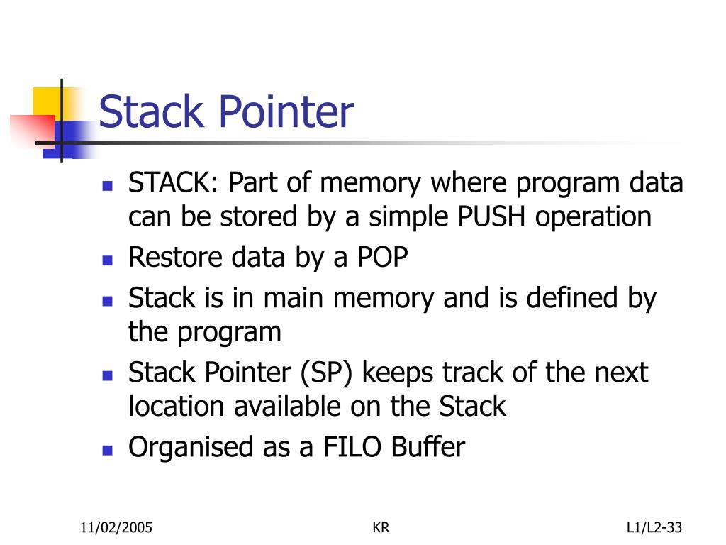 Stack Pointer