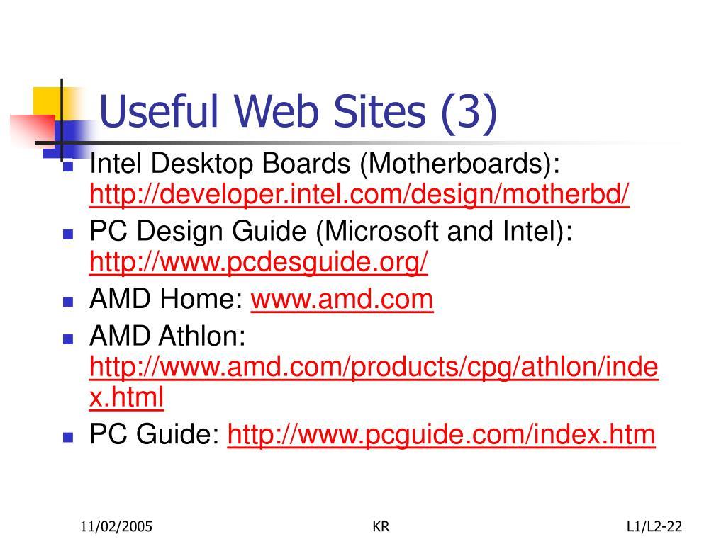 Useful Web Sites (3)