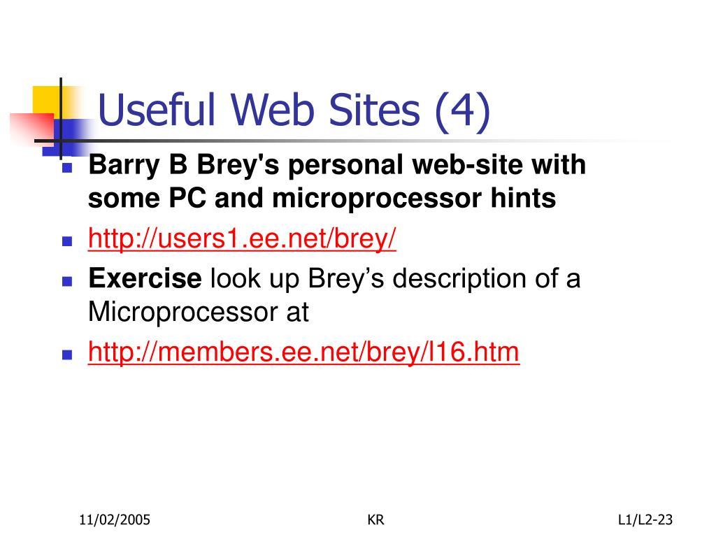 Useful Web Sites (4)