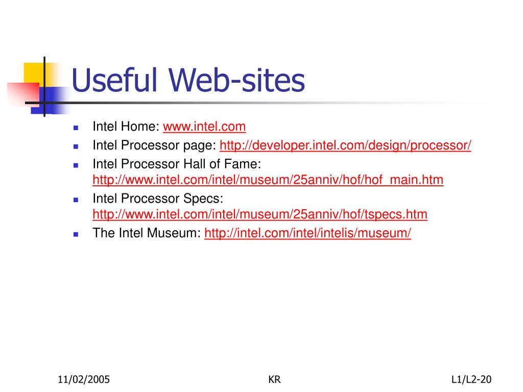 Useful Web-sites