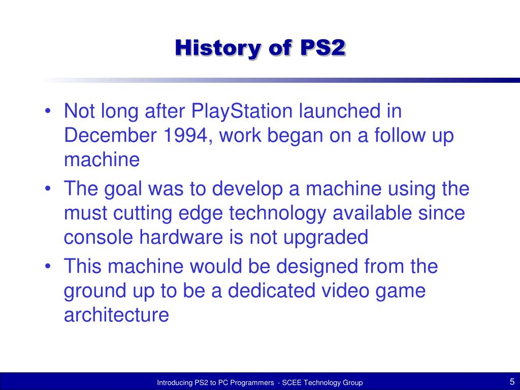 History of PS2
