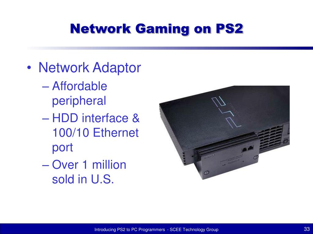 Network Gaming on PS2