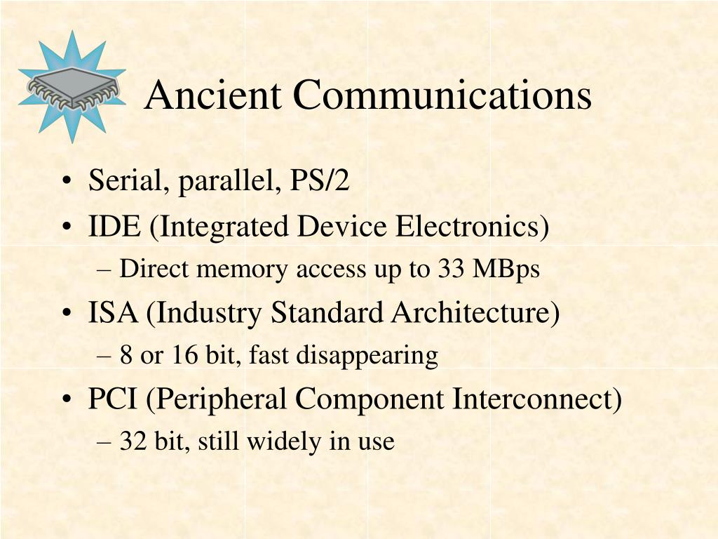 Ancient Communications