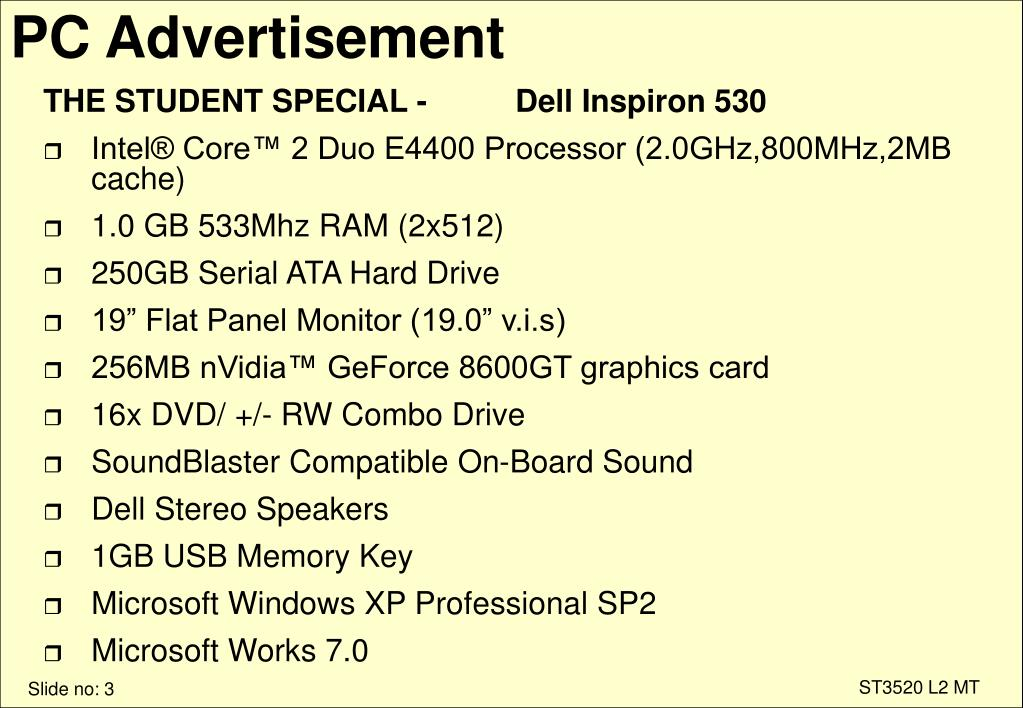 PC Advertisement