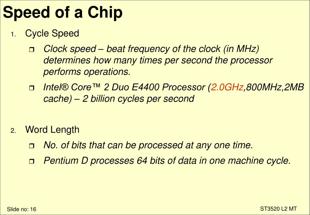 Speed of a Chip