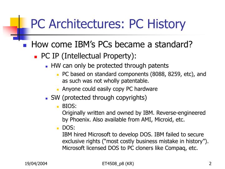 Pc architectures pc history2