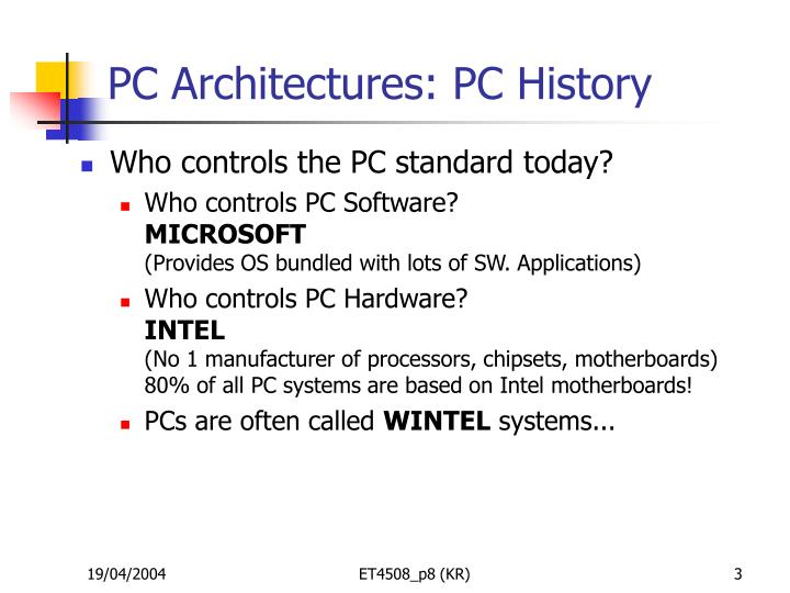 Pc architectures pc history3