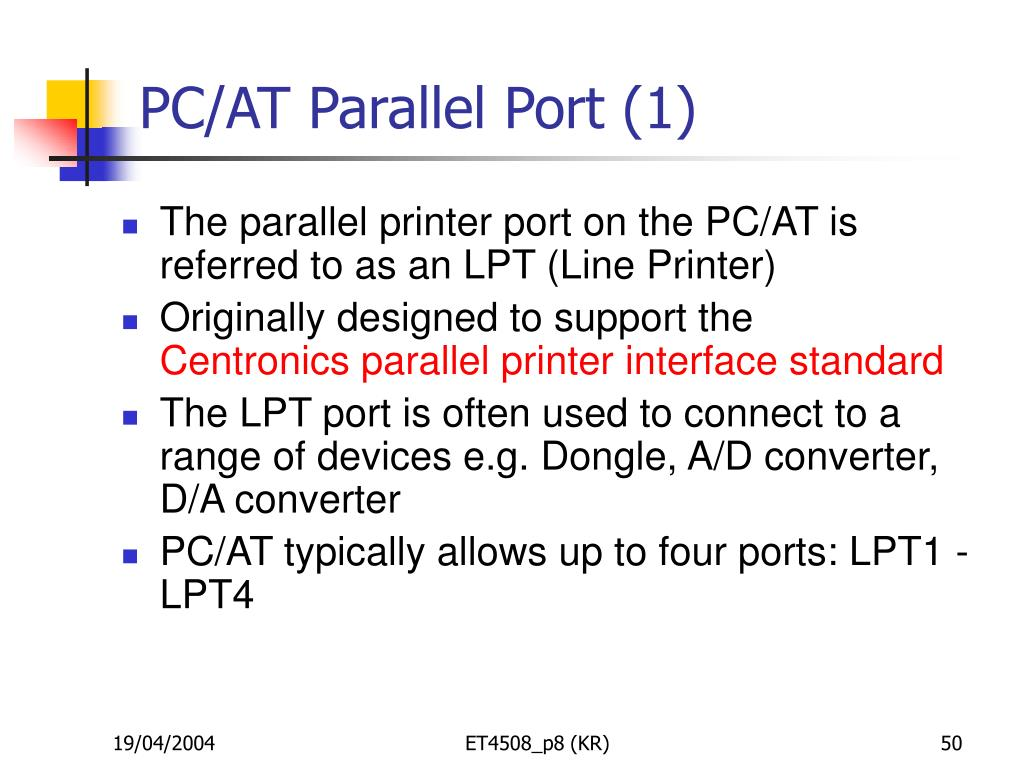 PC/AT Parallel Port (1)