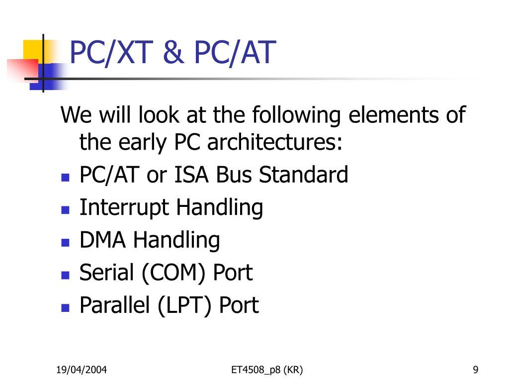 PC/XT & PC/AT