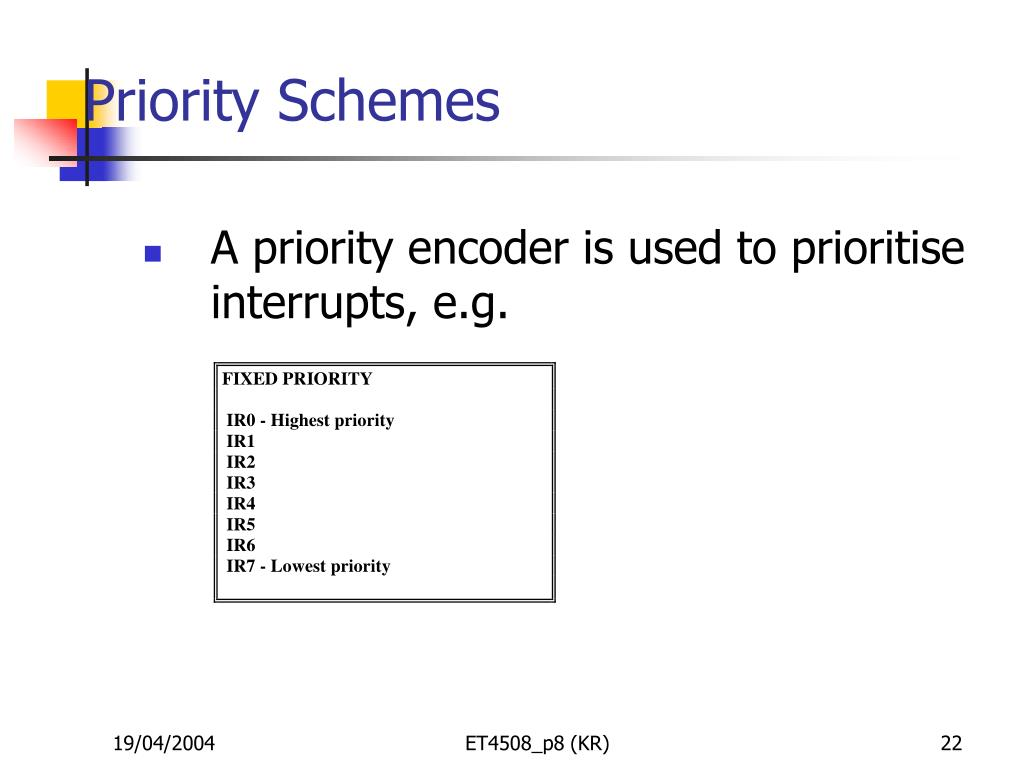 Priority Schemes