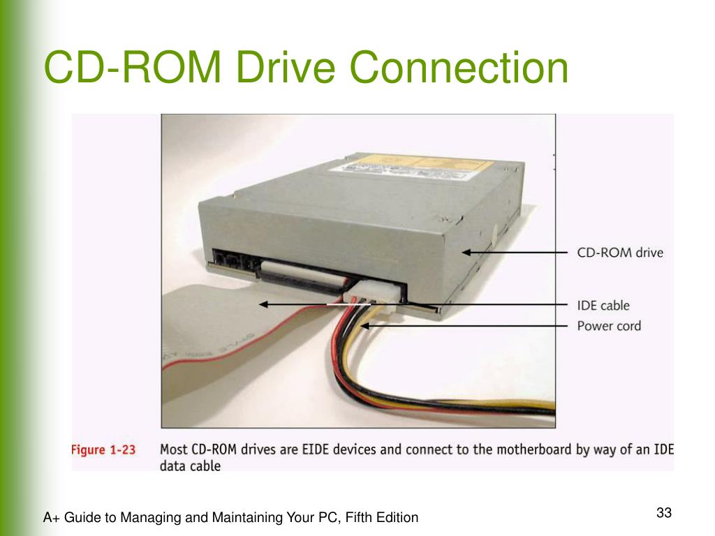 CD-ROM Drive Connection