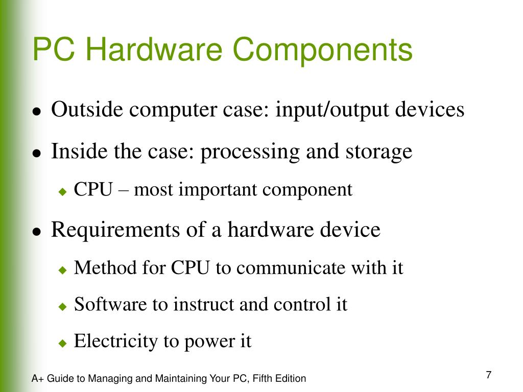 PC Hardware Components