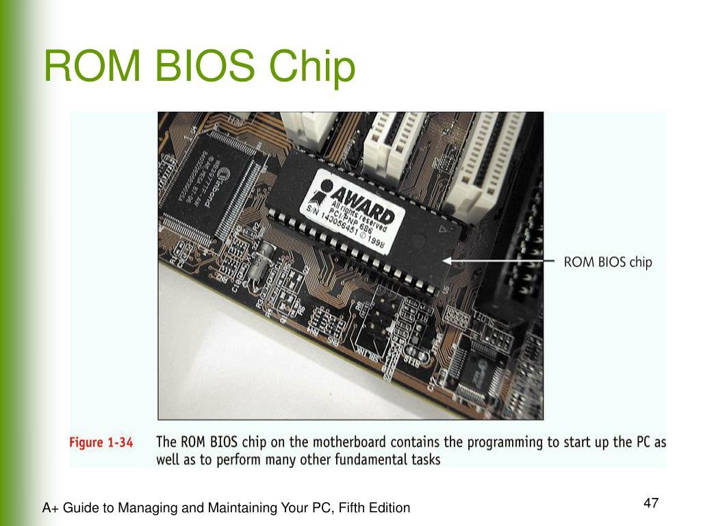 ROM BIOS Chip