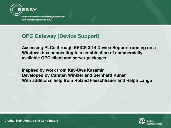 Opc gateway device support2