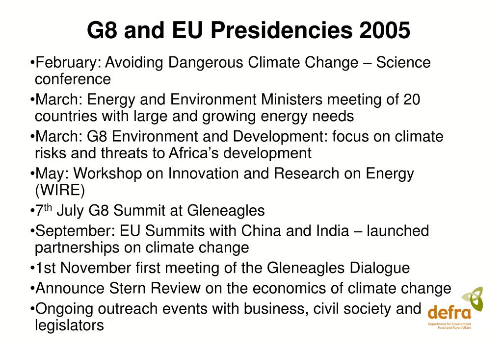 G8 and EU Presidencies 2005