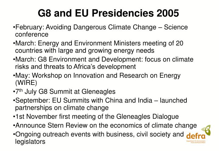 G8 and eu presidencies 2005 l.jpg