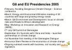 g8 and eu presidencies 2005